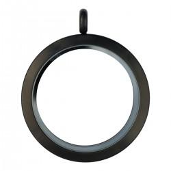 Glass Locket - Black - Large