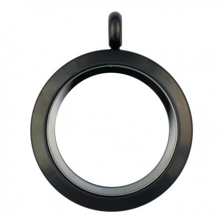 Glass Locket - Black - Medium
