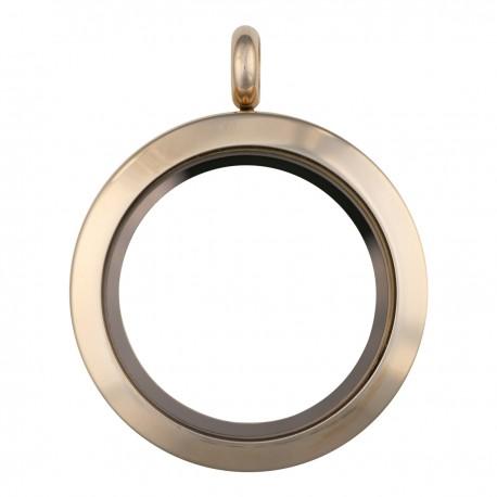 Glass Locket - Rose Gold - Medium