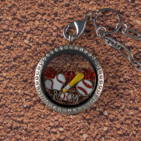 Baseball Floating Locket Kit