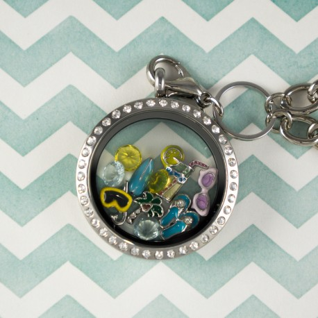 Beach Fun Floating Locket Kit