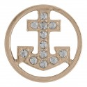 Anchor w/ Crystals - Rose Gold - Large