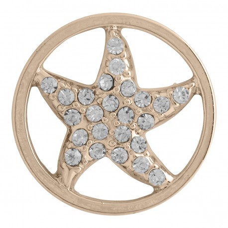Starfish w/ Crystals - Gold - Large