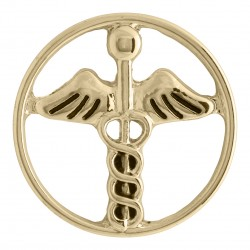 Caduceus - Gold - Large