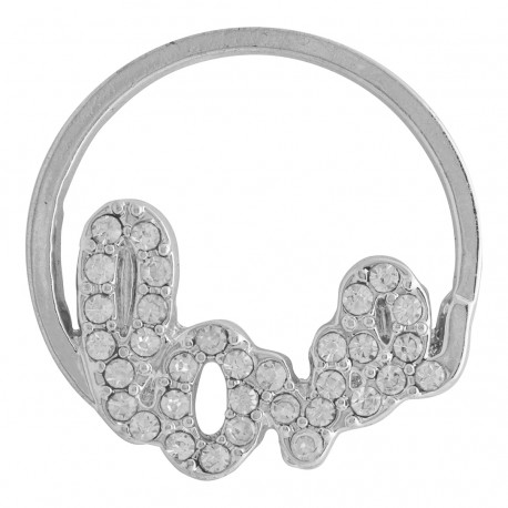 Love w/ Crystals - Silver - Large