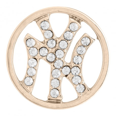 New York Yankees w/ Crystals - Rose Gold - Large