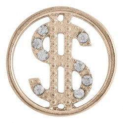 Dollar Sign w/ Crystals - Rose Gold - Large
