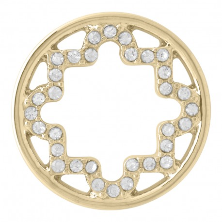 Star w/ Crystals - Gold - Large