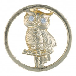 Owl - Gold - Large