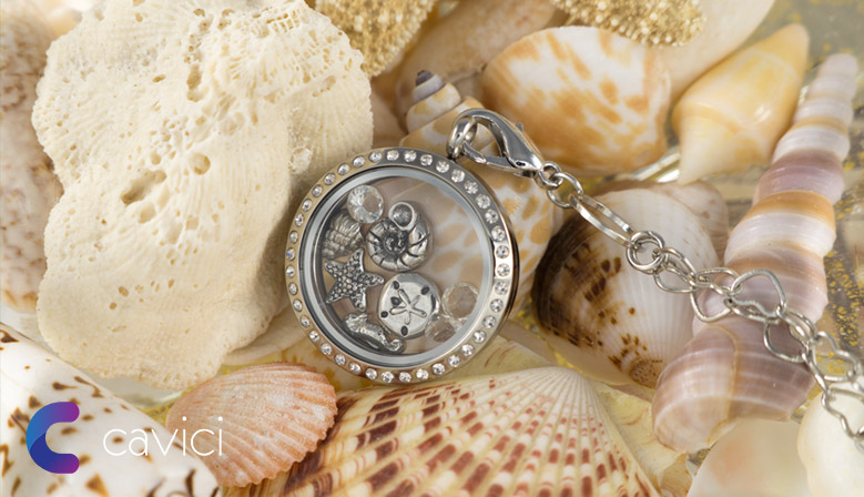 Beach Themed Floating Locket